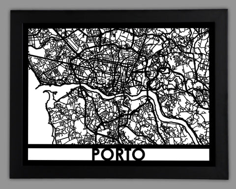 Porto - Cool Cut Map Gift