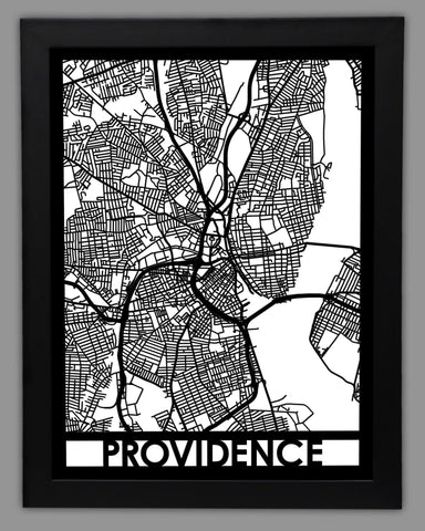 Providence - Cool Cut Map Gift
