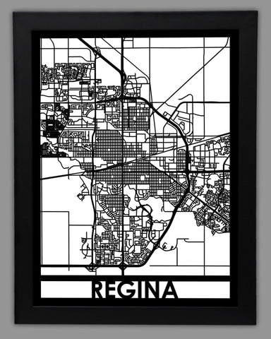 Regina - Cool Cut Map Gift
