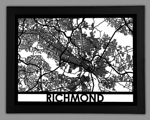 Richmond - Cool Cut Map Gift