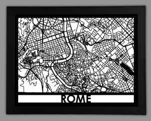 Rome - Cool Cut Map Gift