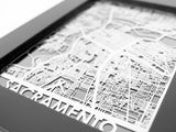 "Sacramento - Stainless Steel Map - 5""x7"" - Cut Maps - 1"