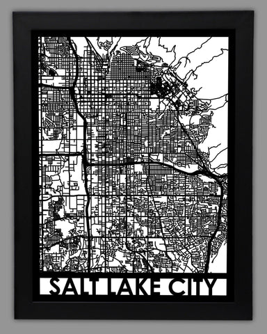 Salt Lake City - Cool Cut Map Gift