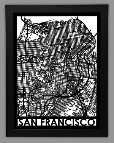 San Francisco - Cool Cut Map Gift