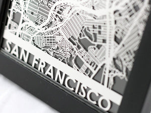 "San Francisco - Stainless Steel Map - 5""x7"""