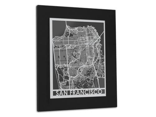 San Francisco - Stainless Steel Map - 11