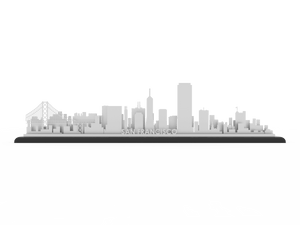 San Francisco Stainless Steel Skyline - Cool Cut Map Gift