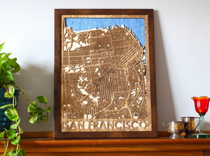 "18""x24"" San Francisco 3-Layer Map"