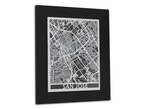 San Jose - Stainless Steel Map - 11