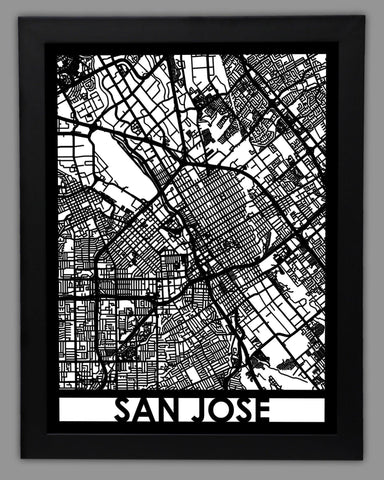 San Jose - Cool Cut Map Gift