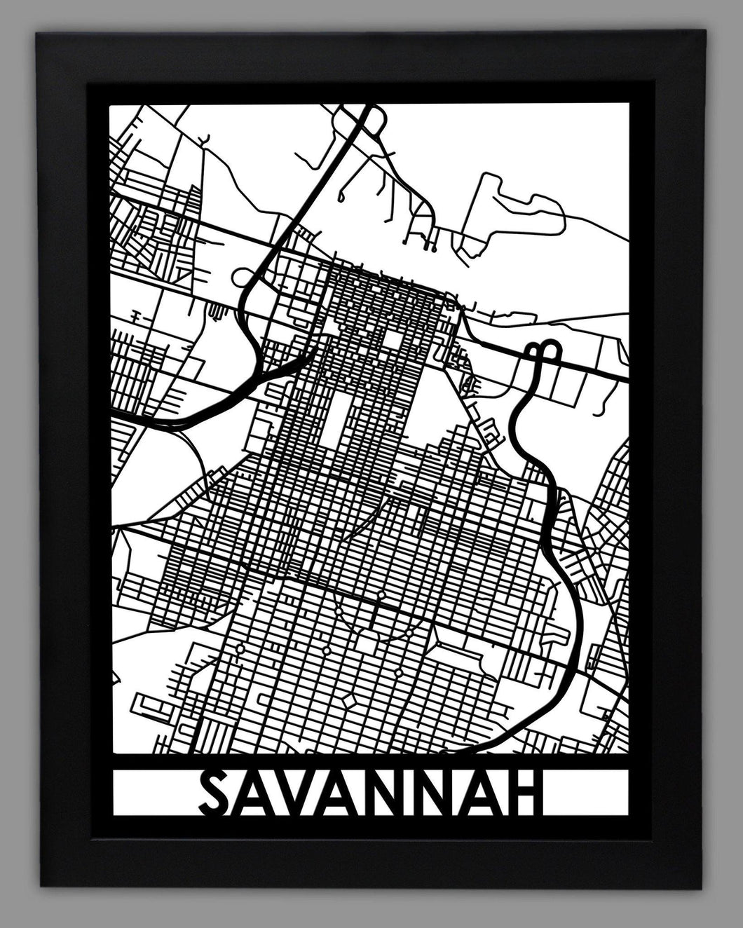 Savannah - Cool Cut Map Gift