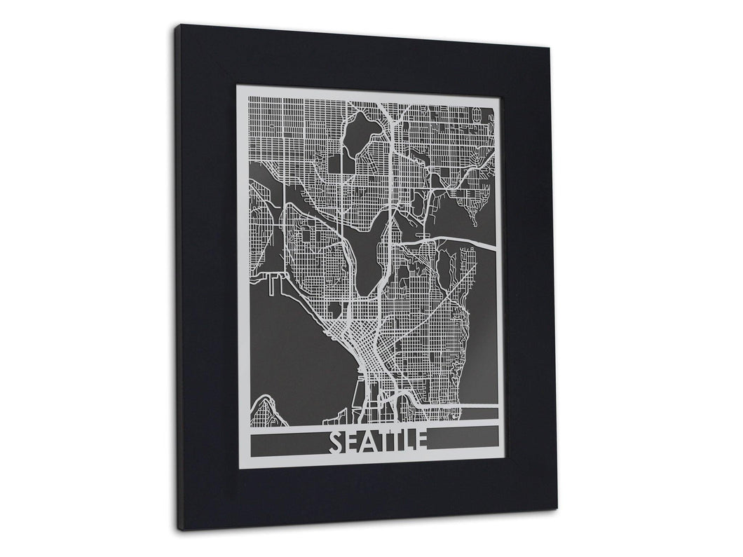 Seattle | Stainless Steel Map | 11