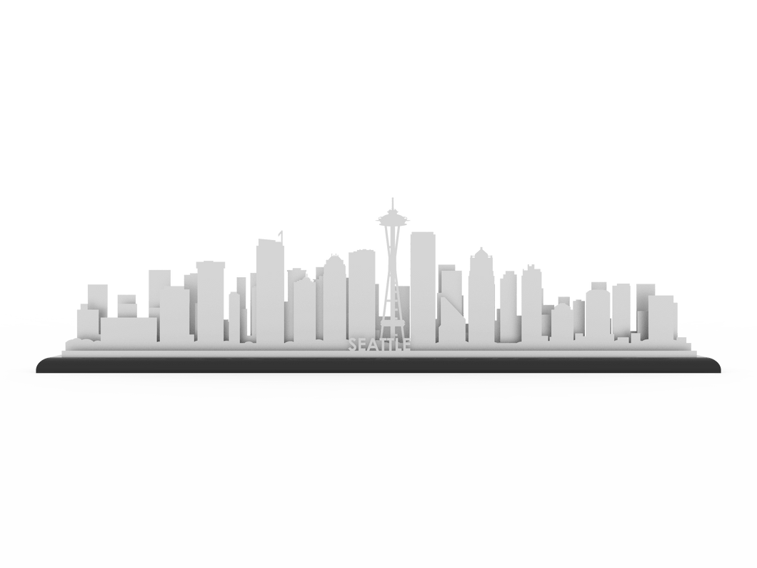 Seattle Stainless Steel Skyline - Cool Cut Map Gift