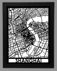 Shanghai - Cool Cut Map Gift