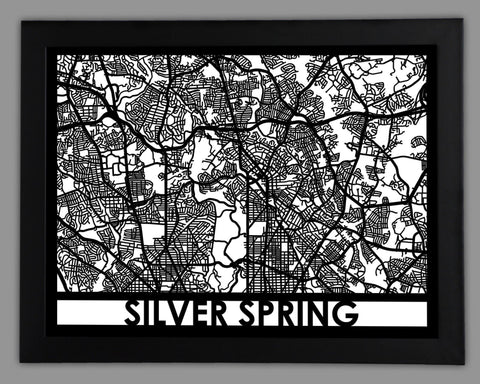 Silver Spring - Cool Cut Map Gift