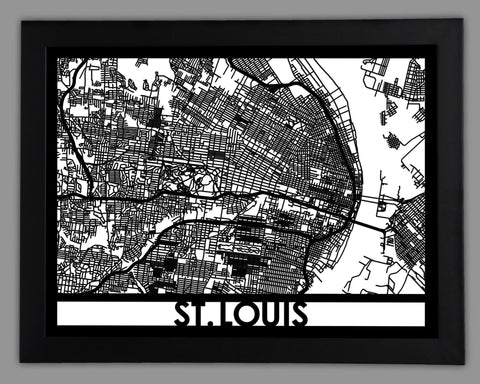 St. Louis - Cool Cut Map Gift