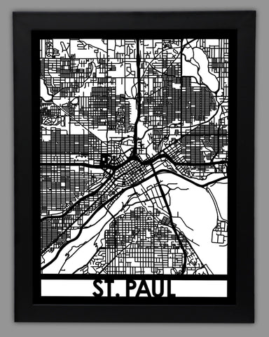 St. Paul - Cool Cut Map Gift