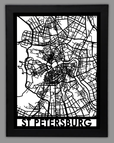 St. Petersburg - Cool Cut Map Gift