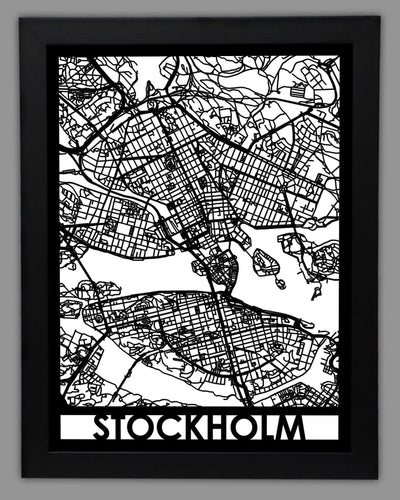 Stockholm - Cool Cut Map Gift
