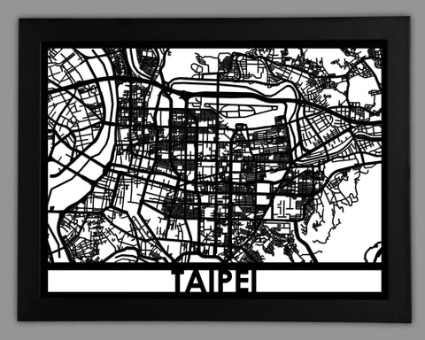 Taipei - Cool Cut Map Gift