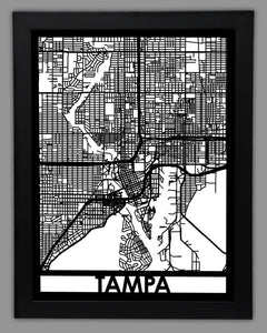 Tampa - Cool Cut Map Gift