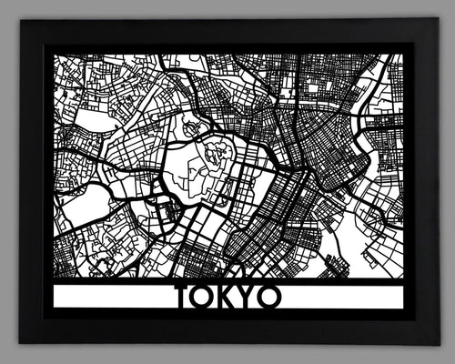 Tokyo - Cool Cut Map Gift