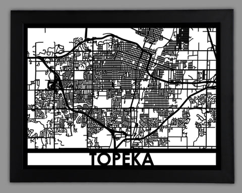 Topeka - Cool Cut Map Gift