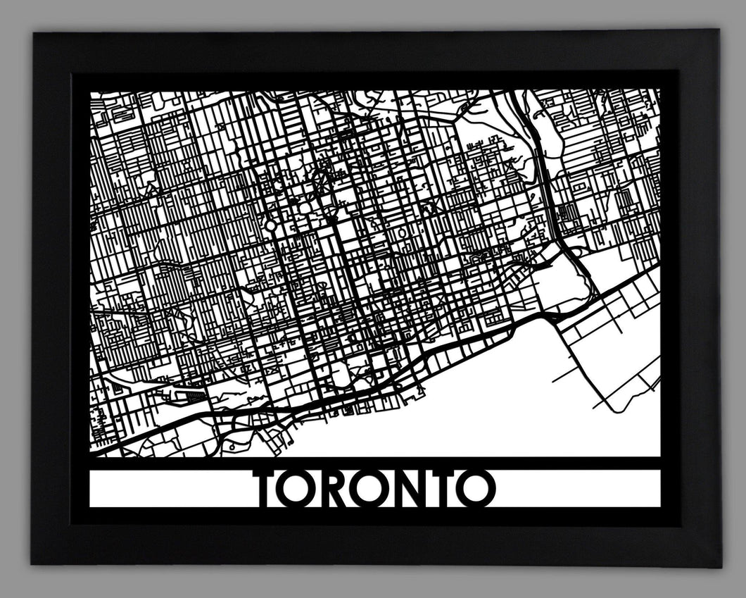 Toronto - Cool Cut Map Gift