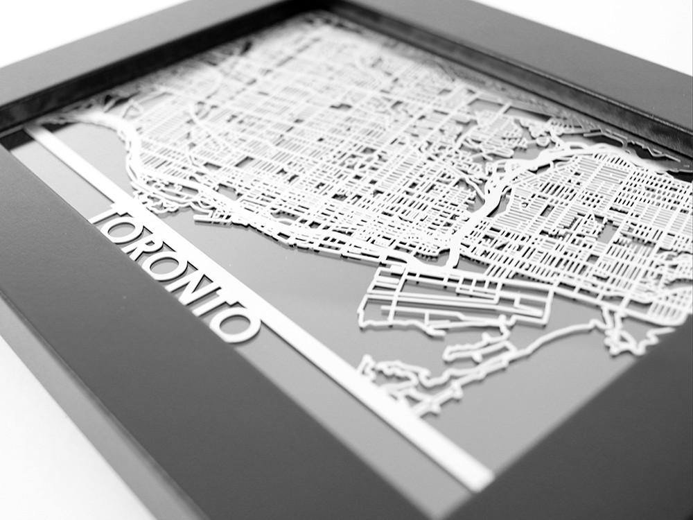 Toronto - Stainless Steel Map - 5