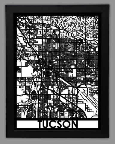 Tucson - Cool Cut Map Gift