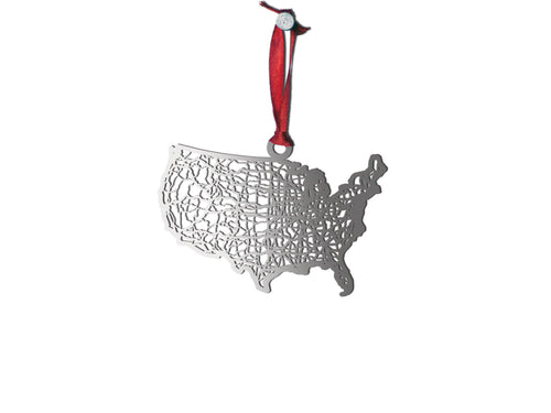 United States Ornament - Cool Cut Map Gift