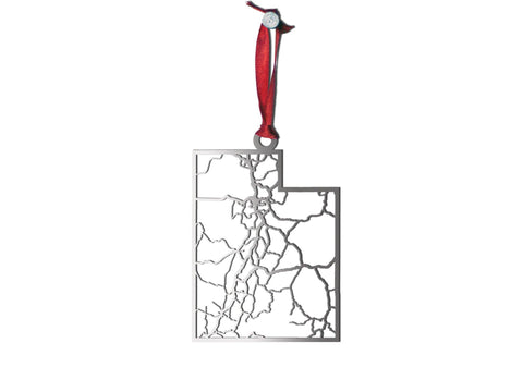 Utah Ornament - Cool Cut Map Gift