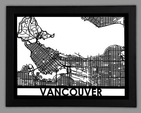 Vancouver - Cool Cut Map Gift
