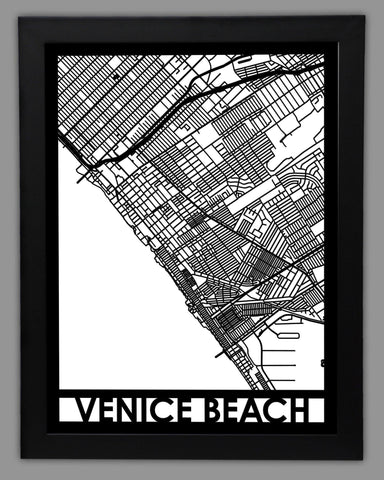 Venice Beach - Cool Cut Map Gift
