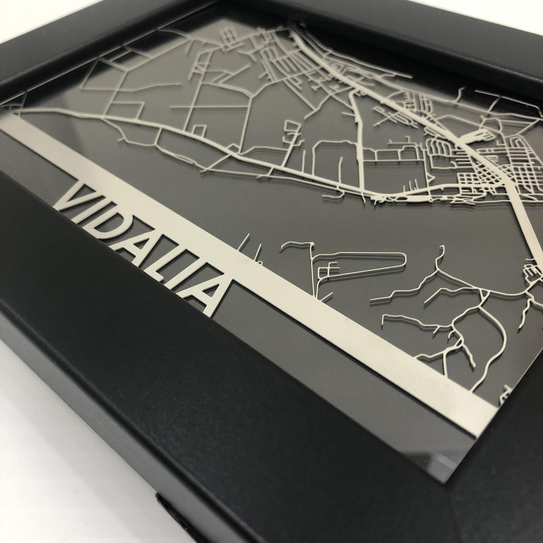 Vidalia, LA - Stainless Steel Map - 5