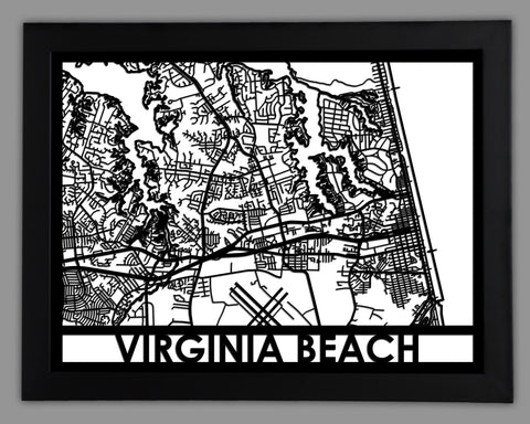 Virginia Beach - Cool Cut Map Gift