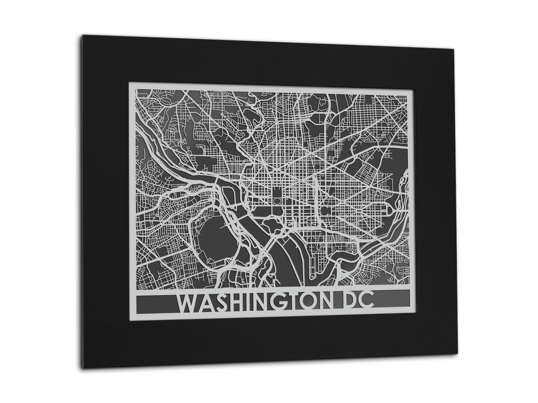Washington DC - Stainless Steel Map - 11