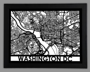 Washington DC - Cool Cut Map Gift