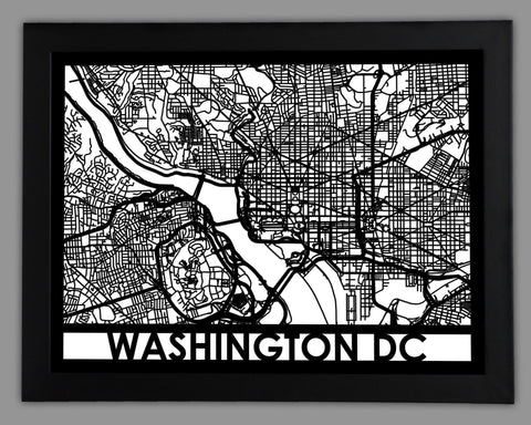 Washington DC - Cut Maps