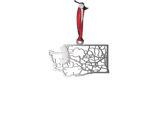 Washington Ornament - Cool Cut Map Gift