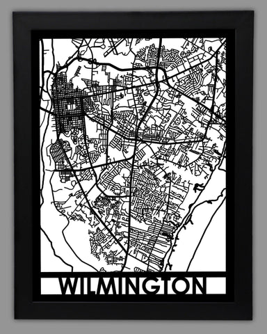 Wilmington - Cool Cut Map Gift