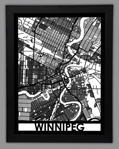 Winnipeg - Cool Cut Map Gift