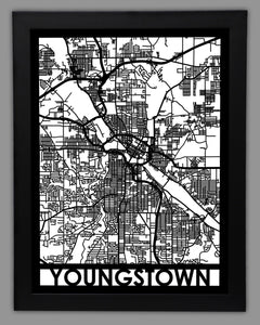 Youngstown - Cool Cut Map Gift
