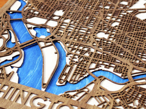 "18""x24"" Washington DC 3 Layer Map"