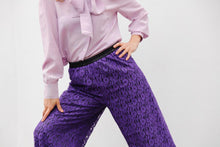 Load image into Gallery viewer, ASIA SILK CREPE BLOUSE IN PURPLE