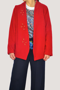 GIULIA BLAZER IN RED