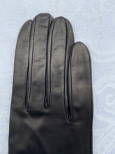 Load image into Gallery viewer, Real Leather Black Long Gloves with Silk Lining