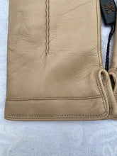 Load image into Gallery viewer, Real Leather Beige Gloves with Cashmere Lining