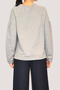 SILVIA SWEATSHIRT WITH SILK