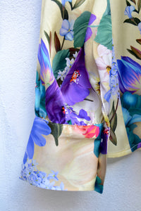 FIORE SILK SATIN BLOUSE WITH SCARF